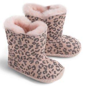 UGG Baby Cassie Leopard Snow Booties Boots 0/1 NEW
